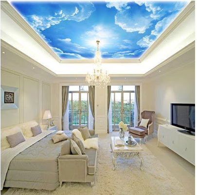 latest Ceiling Mural Home Design Ideas