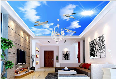 stylish Ceiling Mural Home Design Ideas
