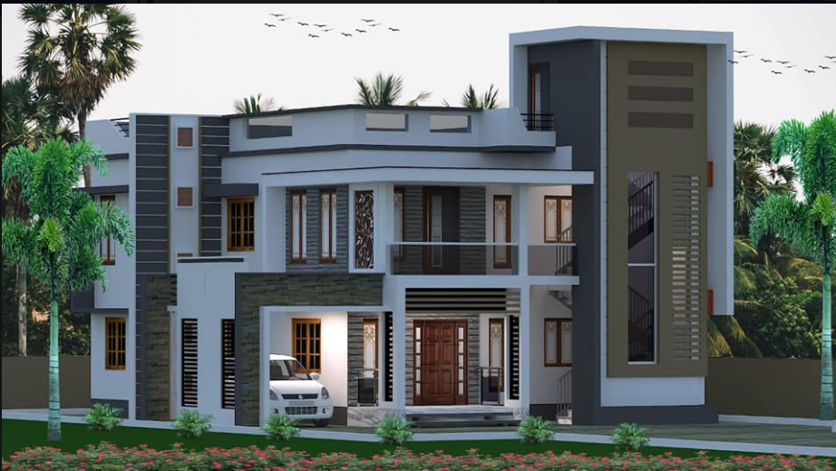 Contemporary Two story home design