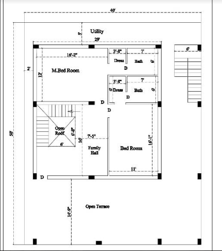 HOW TO MAKE FLOOR PLAN MEASUREMENT 40 FFET BY 50