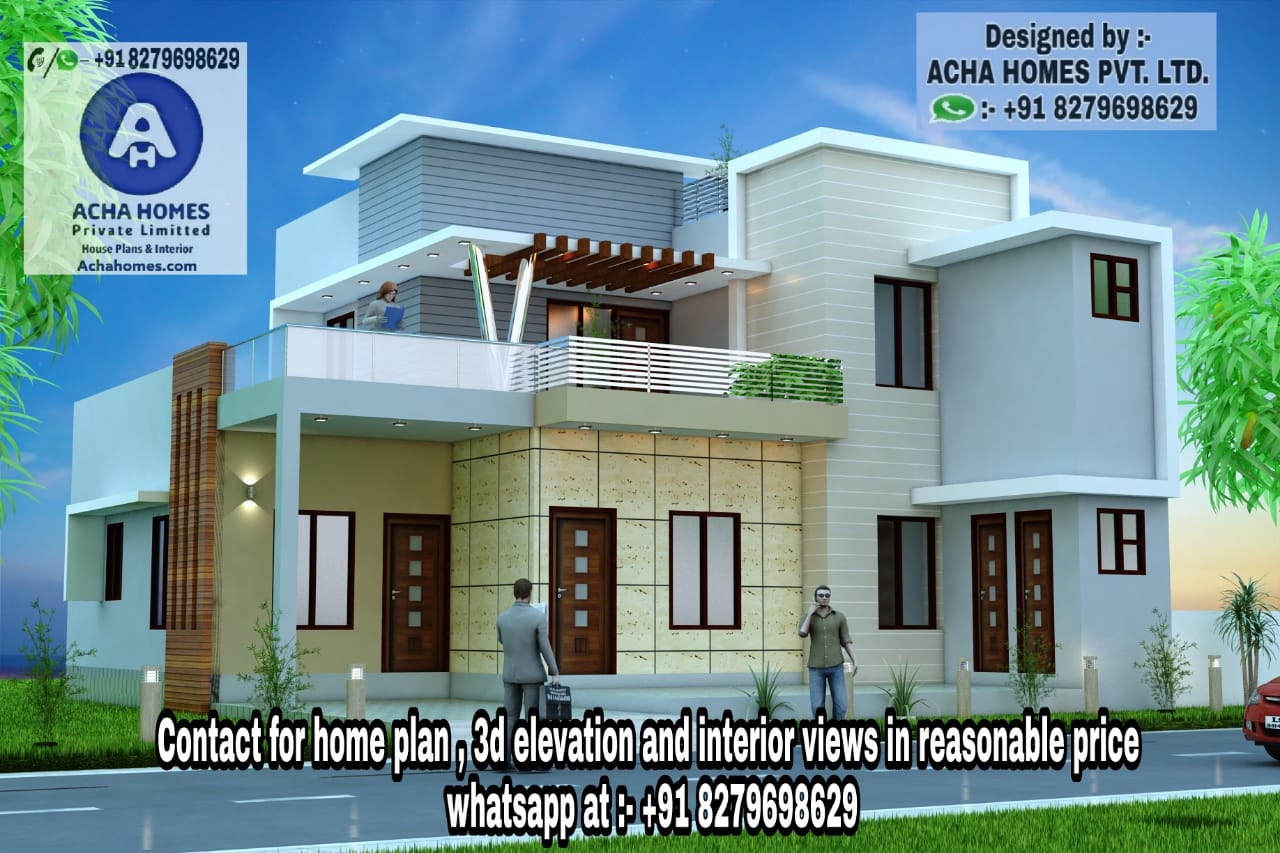 Home Designs for 35 Feet by 40 Feet plot