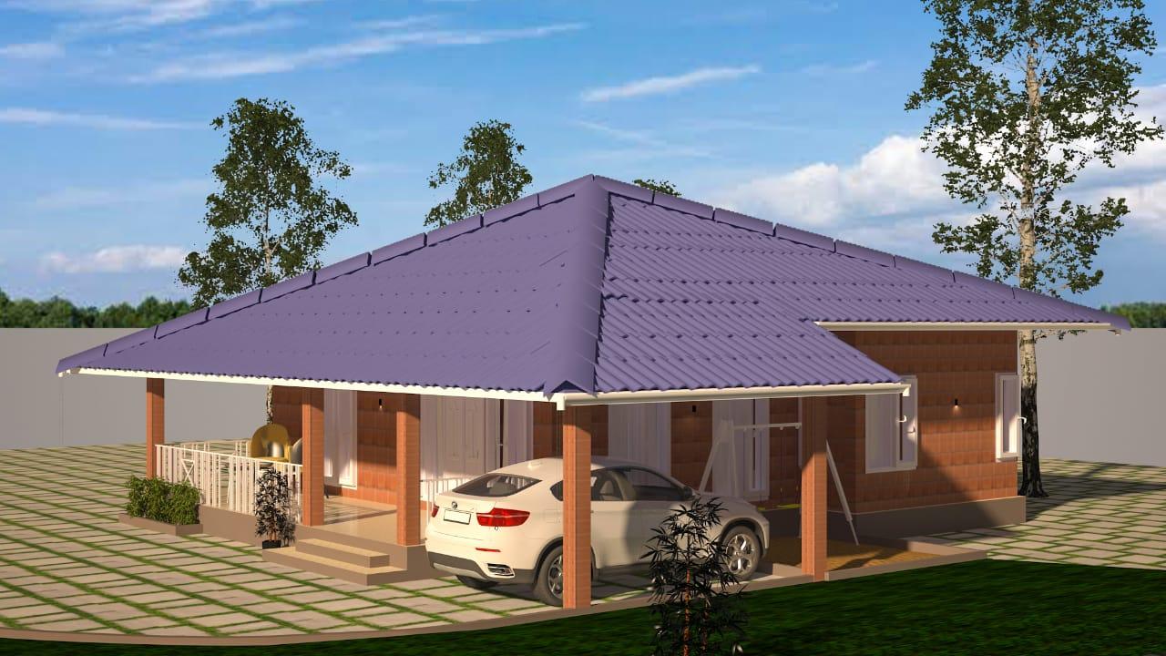 1300 SQUARE FEET FARM HOUSE DESIGN