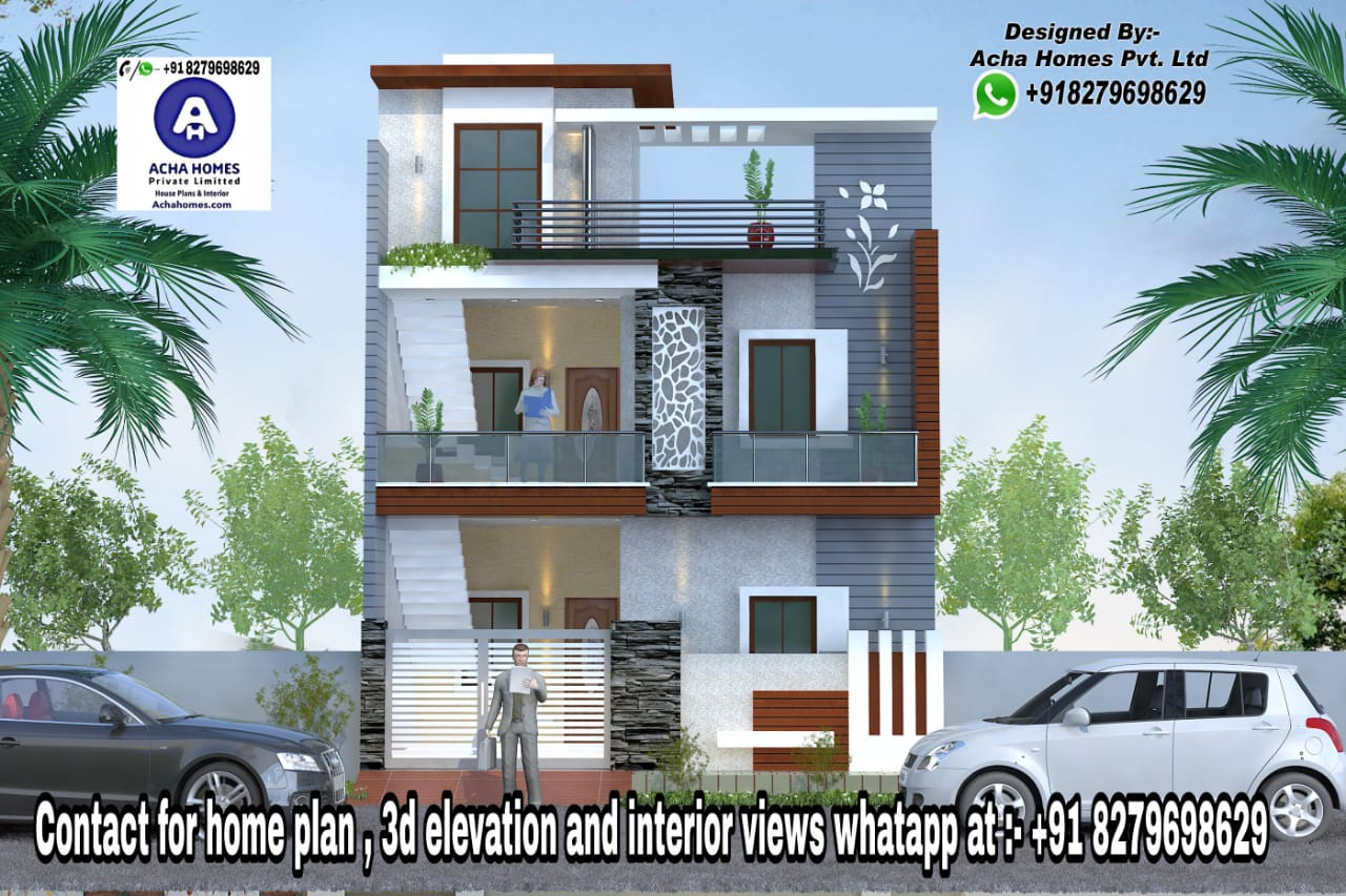 Home Designs for 25 Feet by 50 Feet plot