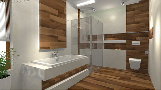 Modern bathroom african Wood Designs