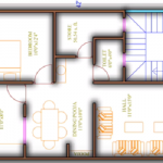 Best House Plan for 22 Feet by 42 Feet plot as per vastu