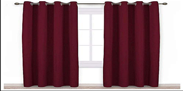 meroon colour curtains bedroom look bigger