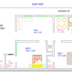 BEST HOUSE PLAN FOR 29 FEET BY 56 FEET PLOT AS PER VASTU
