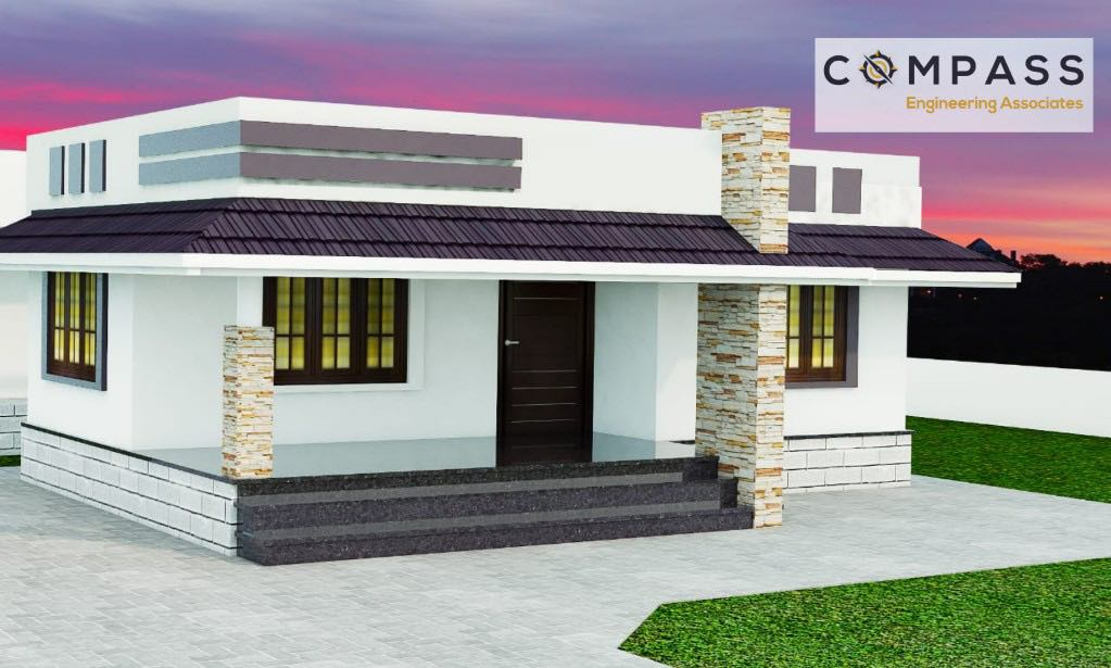 Best 2BHK Modern Home Plan India, Small Home Design Ideas