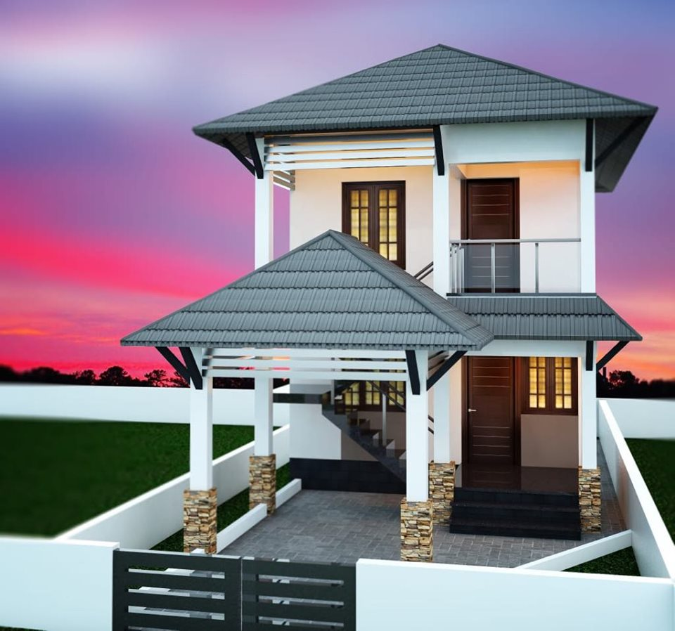 Best 3 bhk home design for 25 feet by 40 plot