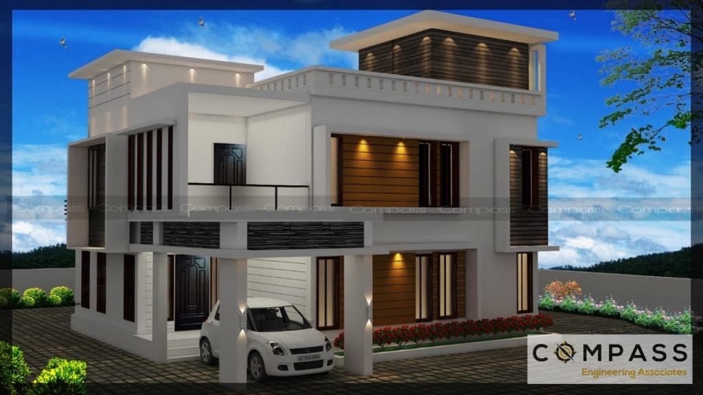 Best West Facing 4 BHK Home Design in 2300 Square Feet