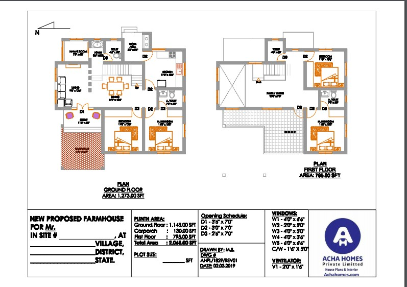 Best house plan for 2000square feet as per vastu