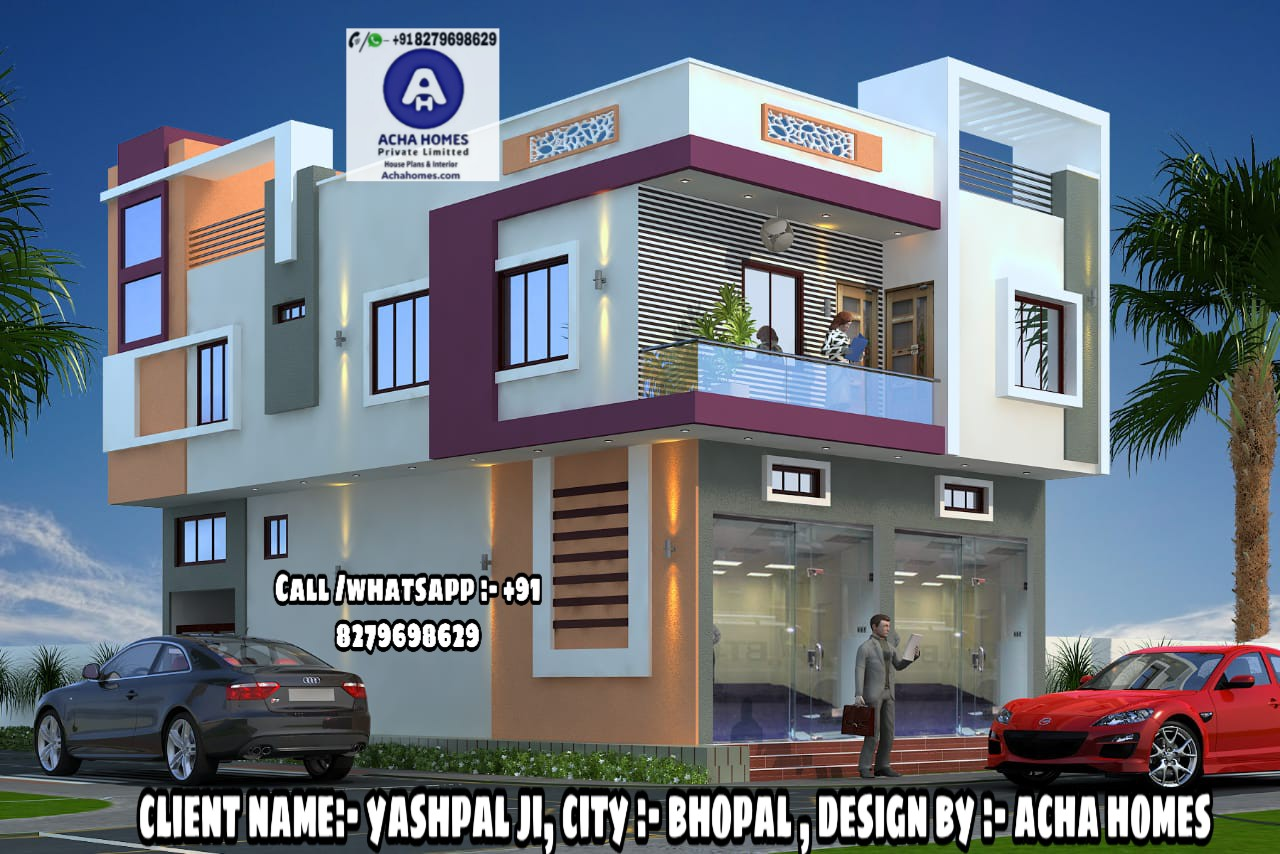 4 bhk modern home design