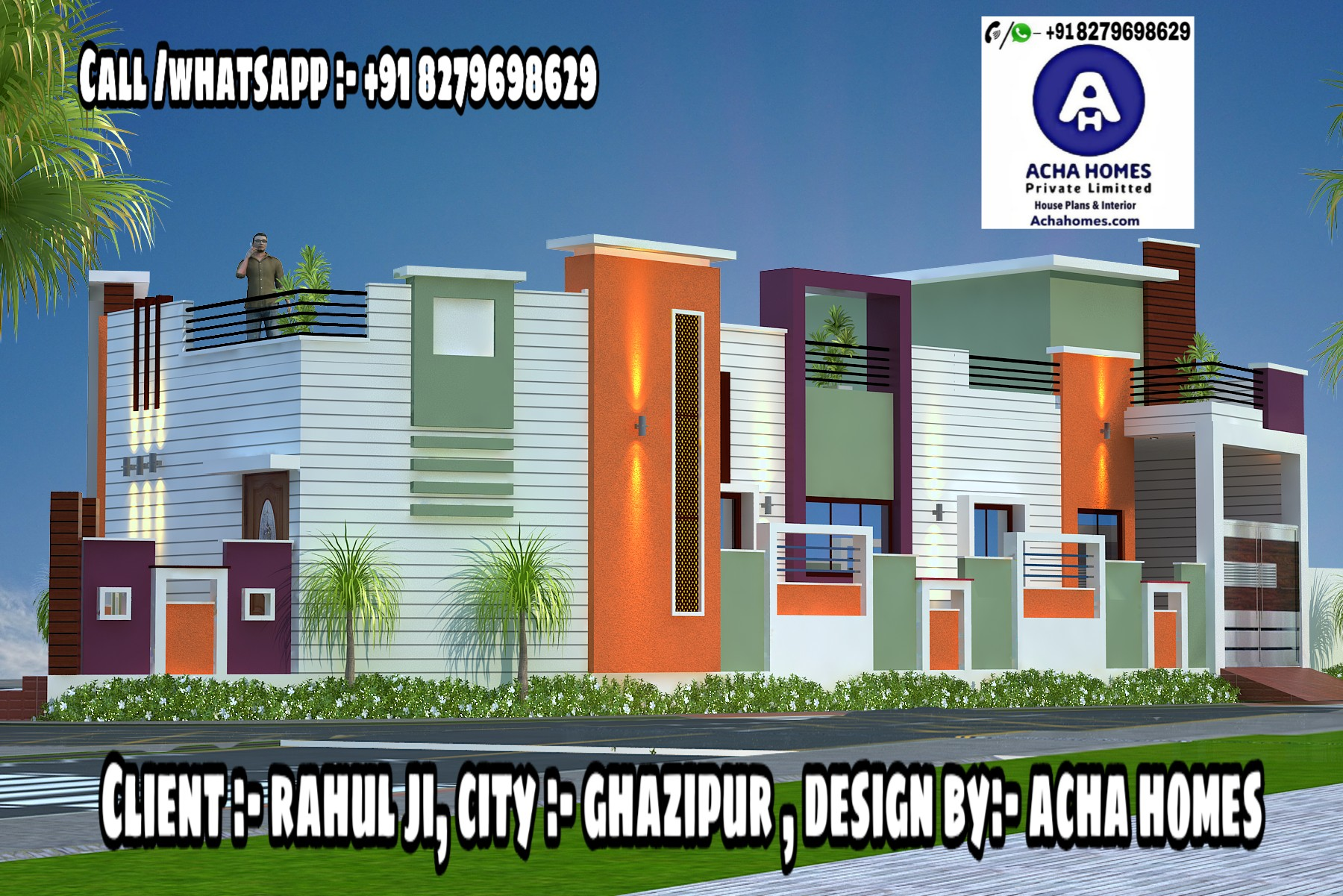 4 BHK SINGLE FLOOR HOME DESIGN