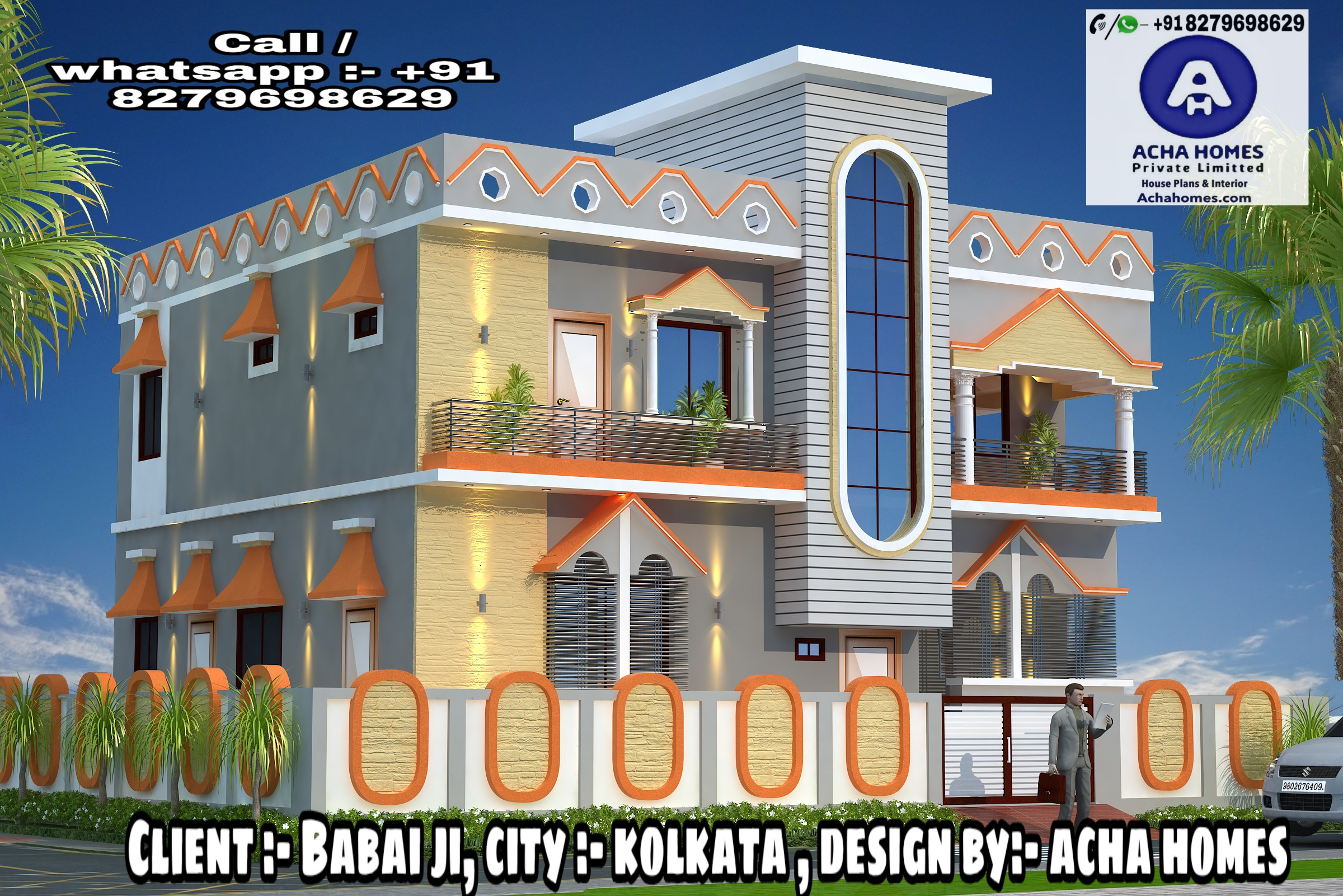 AMAZING DUPLEX 5 BHK HOME DESIGN