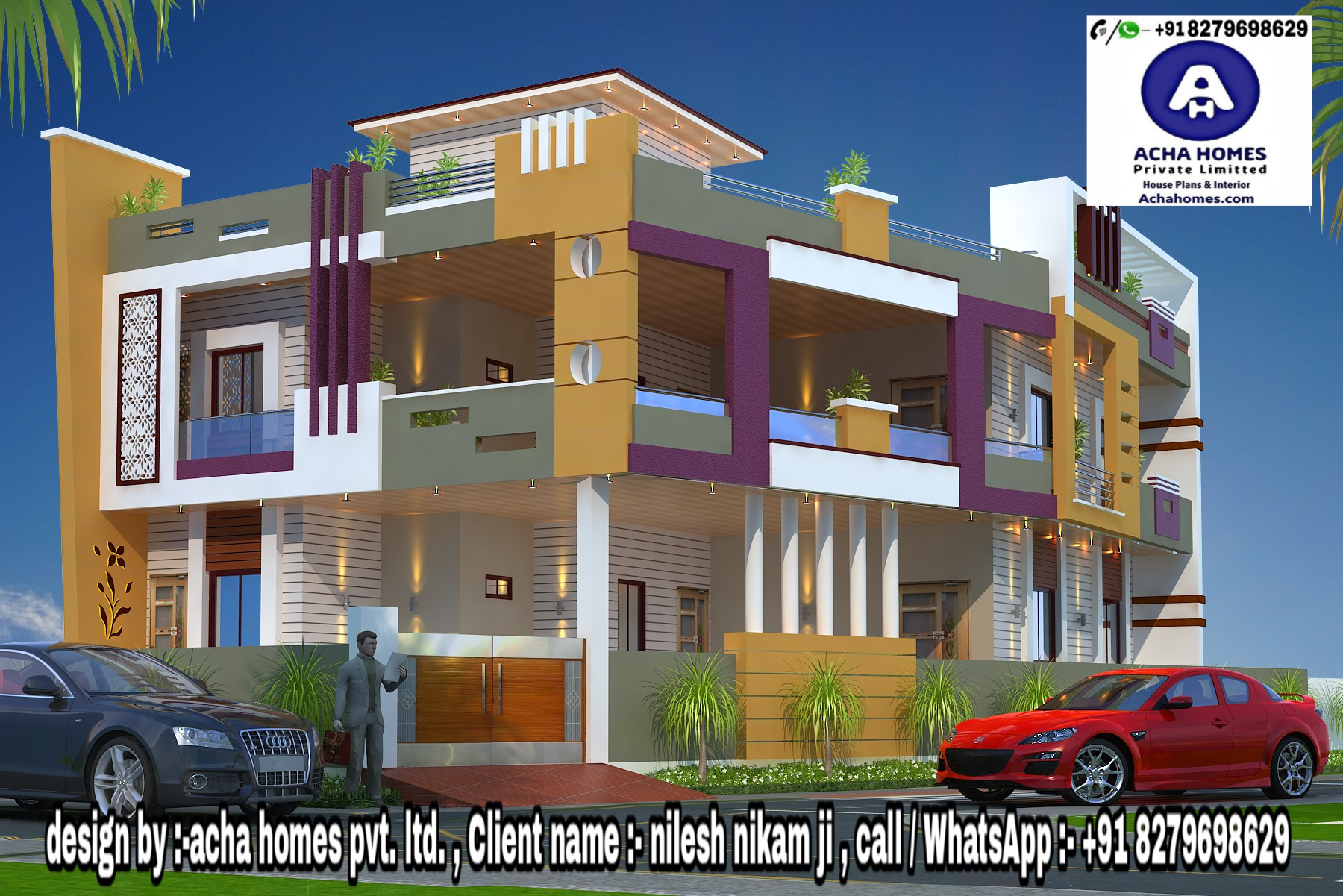 4 BHK INDIAN HOME DESIGN