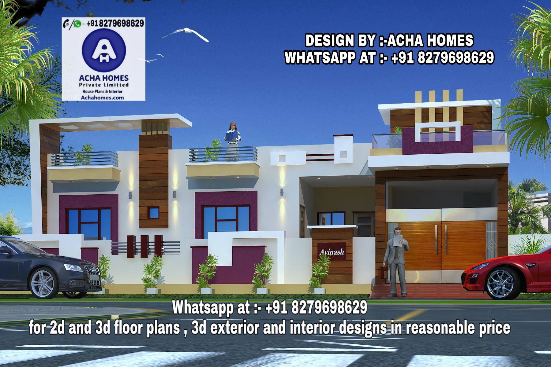 2 BHK HOME DESIGN FOR MULTI FAMILY