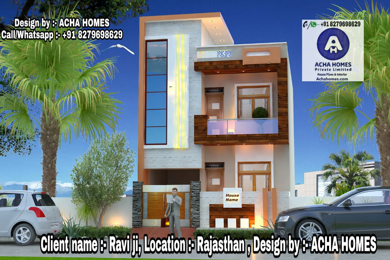 RAJASTANI MODEL 3 BHK HOME DESIGN