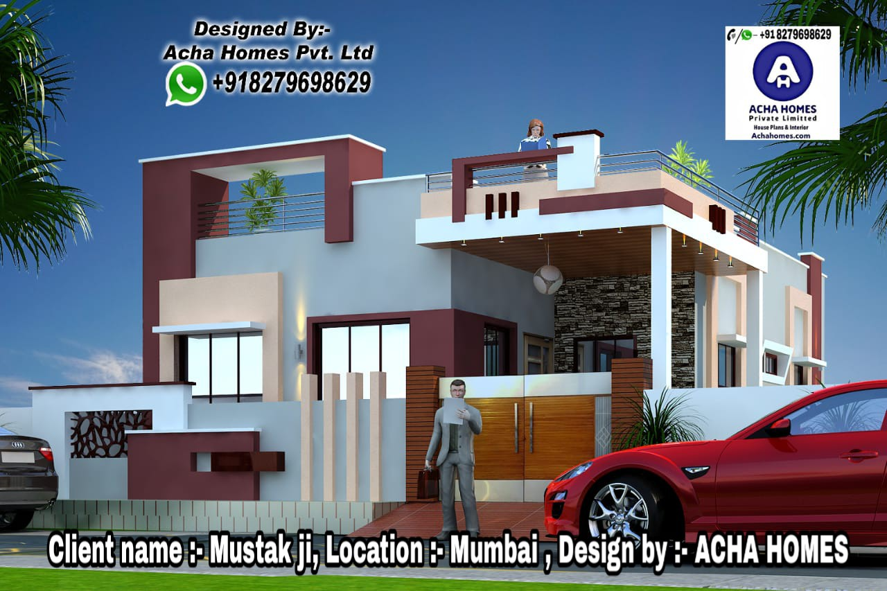 2 BHK HOME PLAN FOR SMALL FAMILY