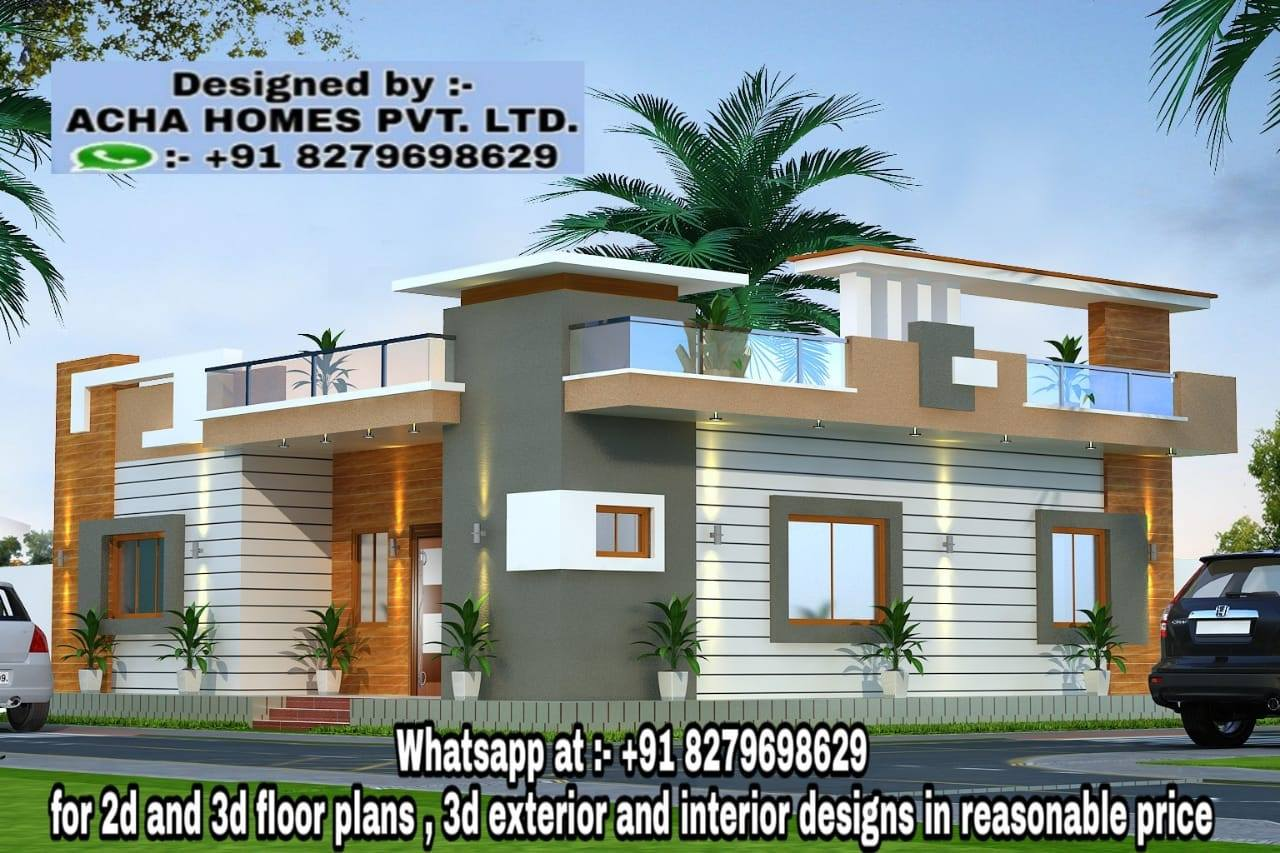 2 bedroom single floor home plan