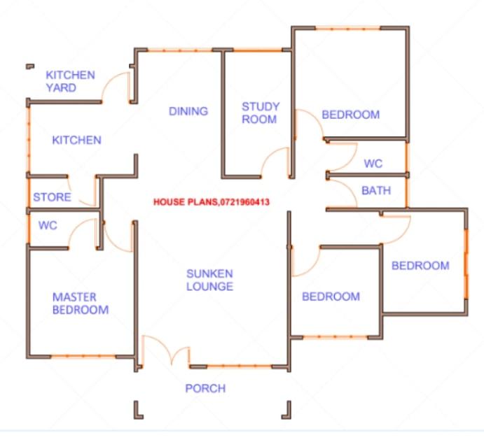 4 bedroom house plan ideas