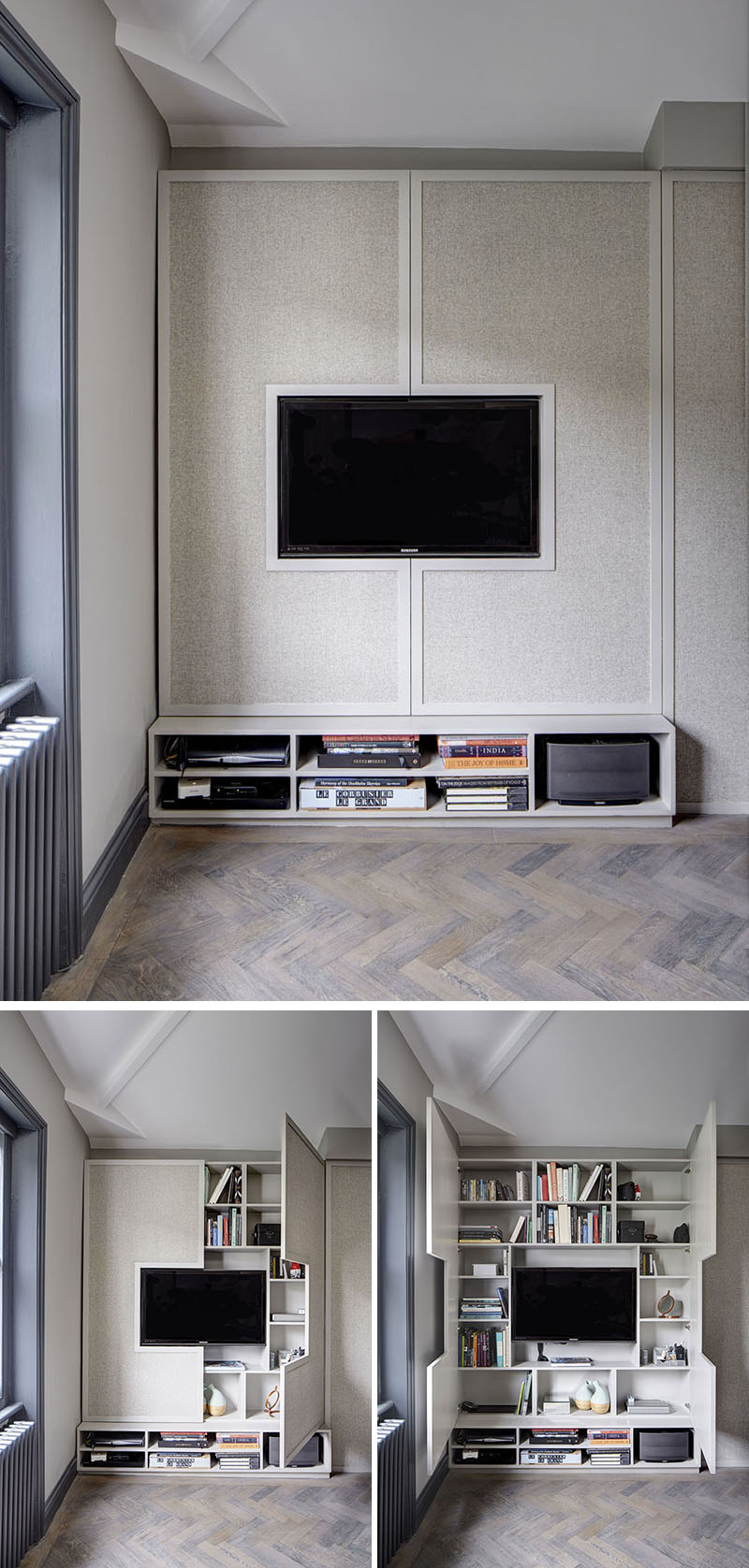 TV and storage wall design