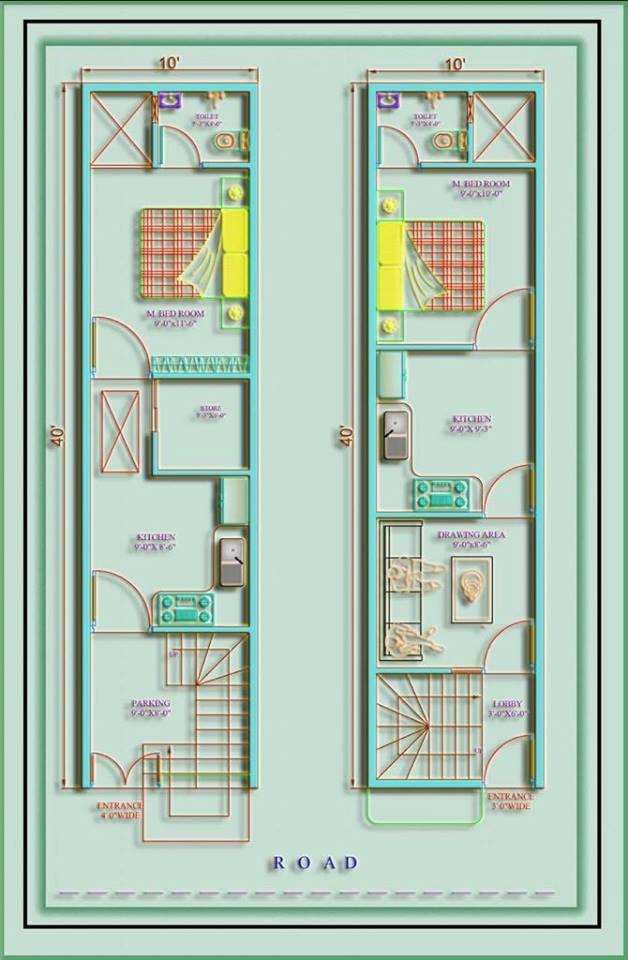 400 square feet house plan kerala model as per Vastu