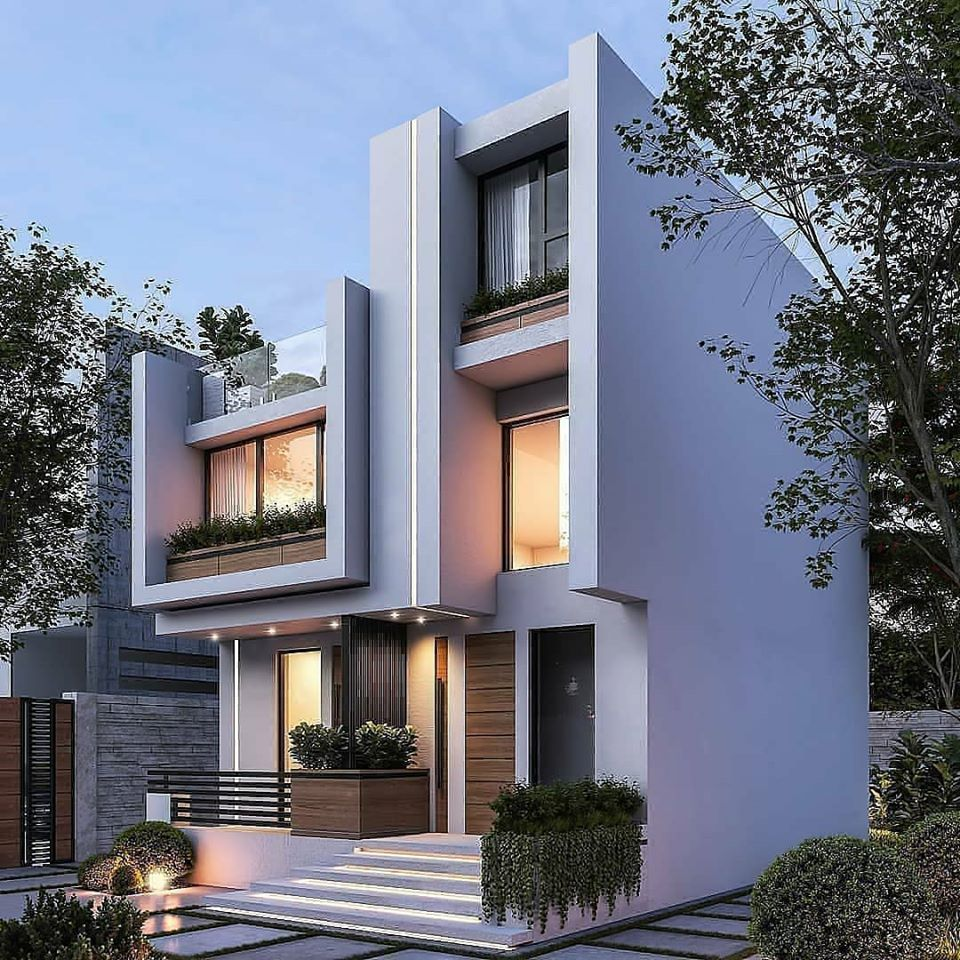 Modern Home Elevation Design: Best Duplex House Elevation Design Ideas India, Modern