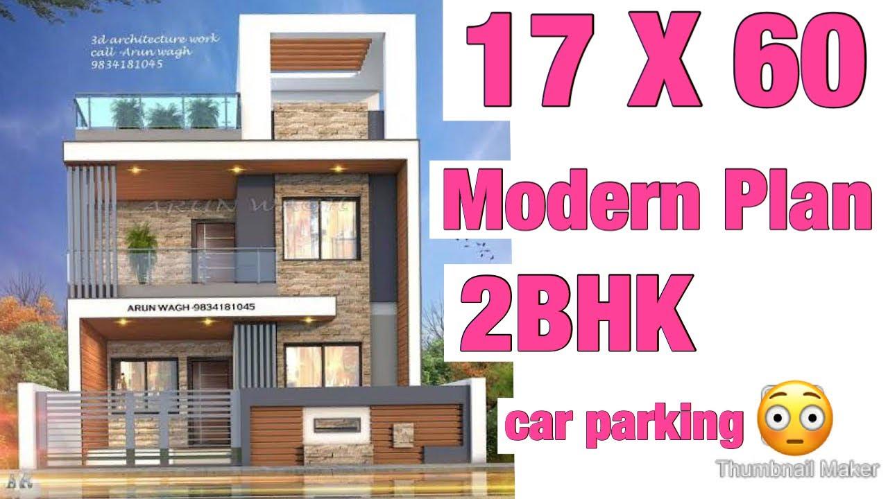 17 X 60 modern house plan as per vastu