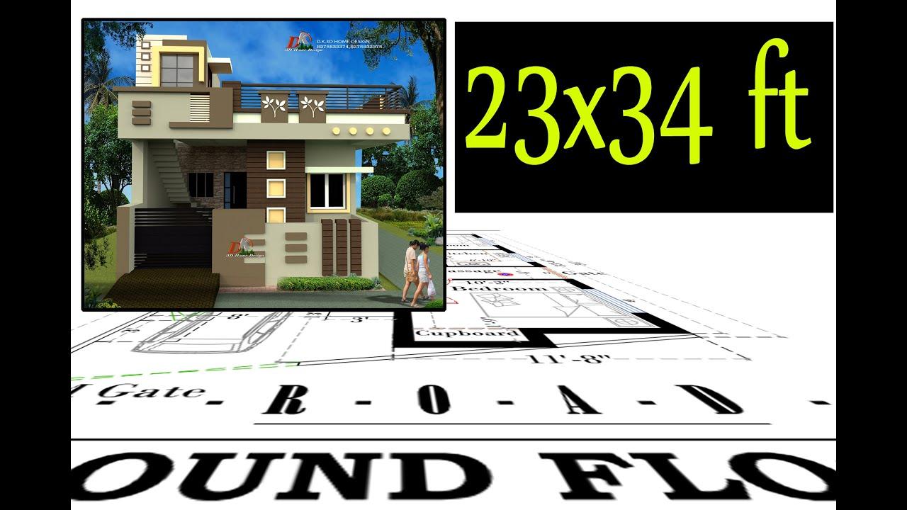 23 X 34 Feet Small House Design planning